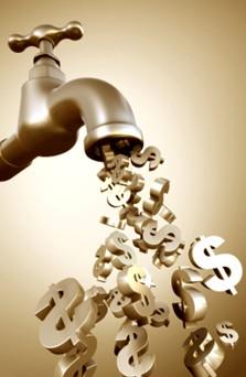 faucet draining dollars